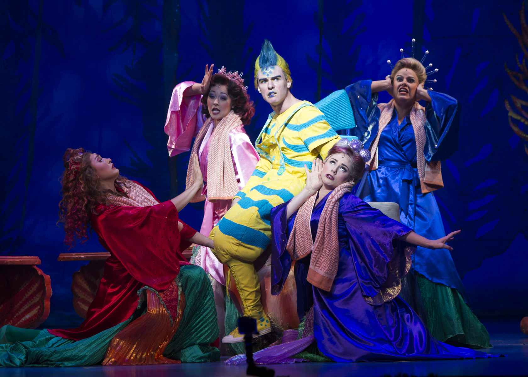 disneys the little mermaid cast of the 2015 production photo by bruce bennett